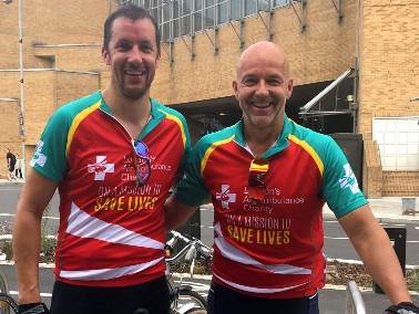 Fundraisers complete cycling challenge