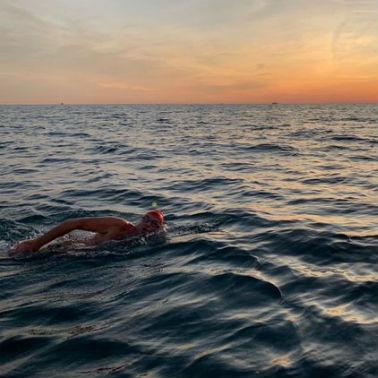 Our team swim the channel